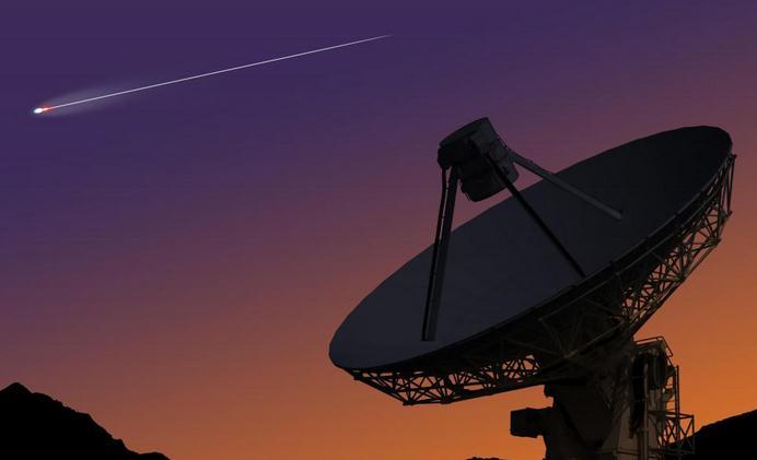Sebuah teleskop radio dapat digunakan untuk mendengarkan alam semesta.