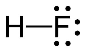 Struktur kimia Hidrogen Fluorida