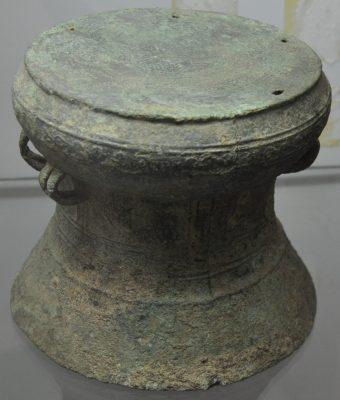 miniatur Drum perunggu