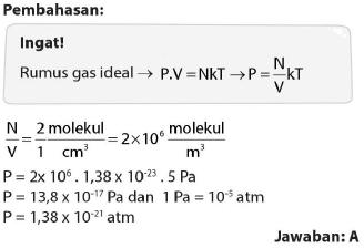 Soal dan pembahasan tentang gas ideal 15