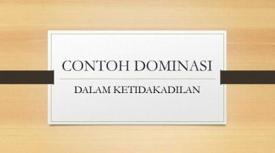 Contoh Dominasi