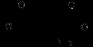 Struktur kimia glutamat.